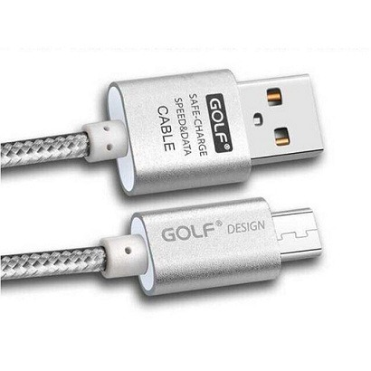 MicroUSB kabel GOLF Metal zlatý