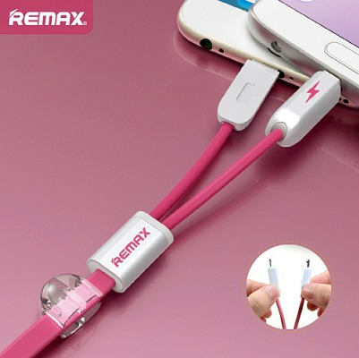 2 in 1 MicroUSB kabel REMAX